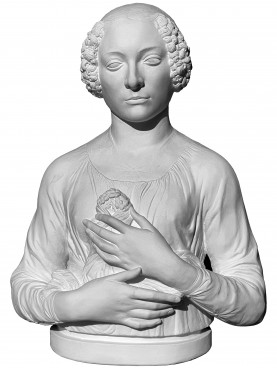 The Lady with the Bouquet of Verrocchio - patinated chalk copy