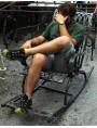 Sedia a dondolo IN FERRO