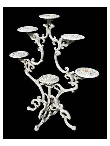 Cast iron flowers stand with six arms