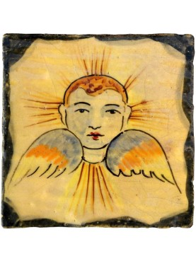 """Riproduzione di piastrella siciliana """"angelo"""""""