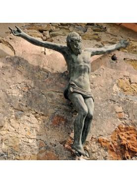 Cristo in terracotta patinata