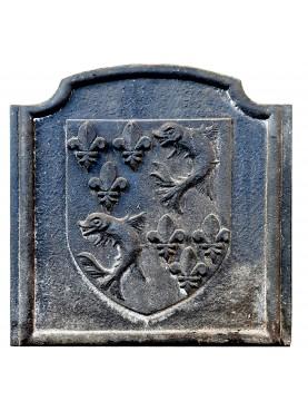 Lastra in ghisa Mantovana per camino con stemma nobiliare