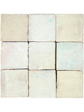 Hand-made Morocco Tile white