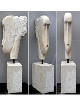 Authentic Modigliani false stone head