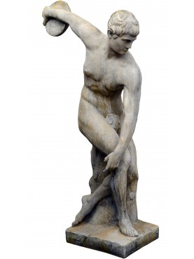 Discobolus of Myron of the Vatican Museums statue in concrete