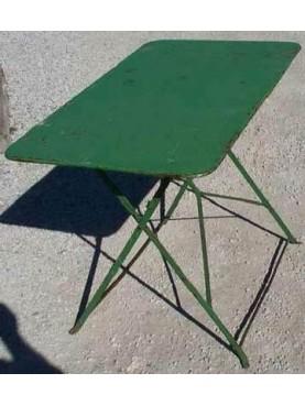 Tavolino pieghevole in ferro 98 CM