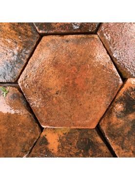 Esagonette in terracotta antiche lato 8,7 cm