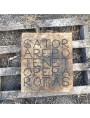 Il nostro SATOR in pietra in versione rettangolare