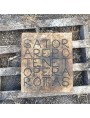 Our rectangular stone SATOR