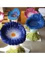 Majolica seat - blue pansy