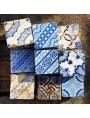 Piastrella di maiolica blu e manganese