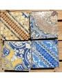 Ancient italian Majolica tile Giustiniani glazed tiles