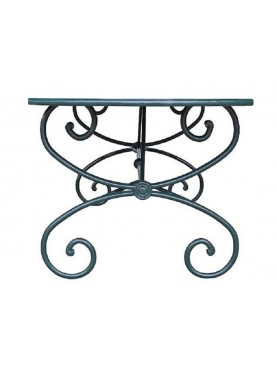 Forged iron table with french legs