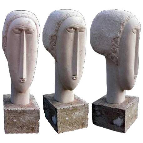 Amedeo Modigliani head stone reproduction