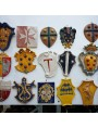 Various coat of arms Della Robbia style