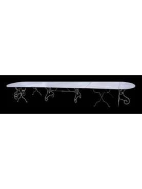 Tavolo ovale 527 cm componibile in 5 pezzi
