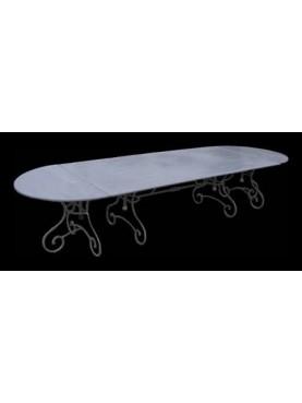 Tavolo componibile ovale 327 cm gambe francesi
