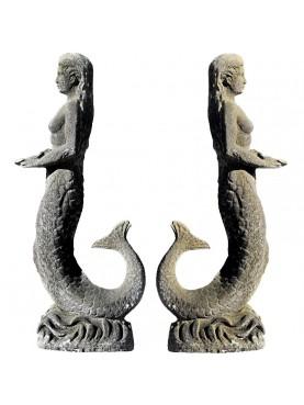Statua da giardino in malta cementizia - la Sirena
