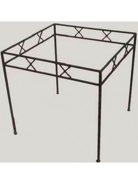 Table base in iron with little crosses