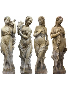 Quattro statue, le 4 stagioni - malta cementizia
