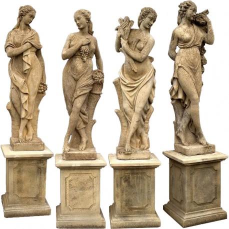 Four statues, the 4 seasons - concrete