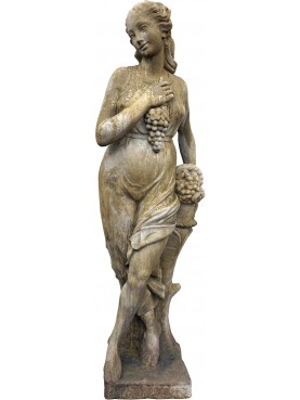 Statua in pietra ricostituita AUTUNNO