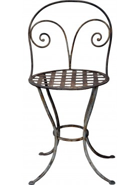 The chair of the Casino of Bagni di Lucca - wrought iron