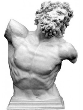 Torso of the Laocoon 1: 1 in plaster
