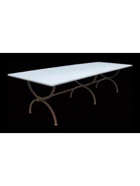 Tavolo a centine 300 CM in marmo bianco