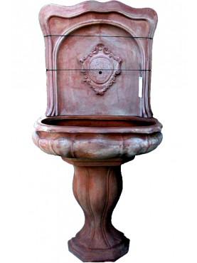 Fontana in terracotta in 3 pezzi