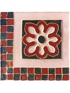 Ancient liberty majolica tile