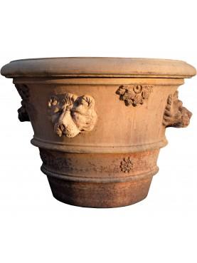 Vaso da Limoni Ø90cm con teste di leone e rosette