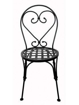 Sedia in ferro battuto seduta intrecciata
