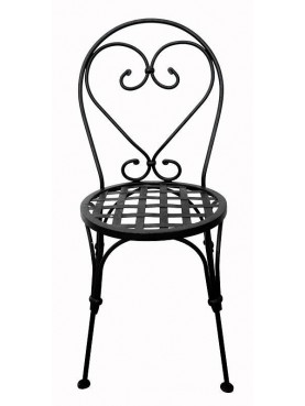 Italian forged iron garden chair