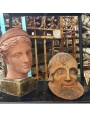 Il guerriero morente testa in terracotta - tempio Atena Afaia a Egina