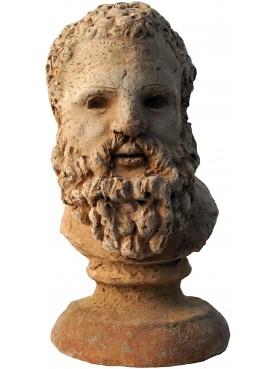Piccola testa con base - terracotta in monoblocco 15 cm di altezza