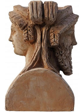 Two-faced head of Bacchus and Ariadne - free copy of the original from the Vatican Museums