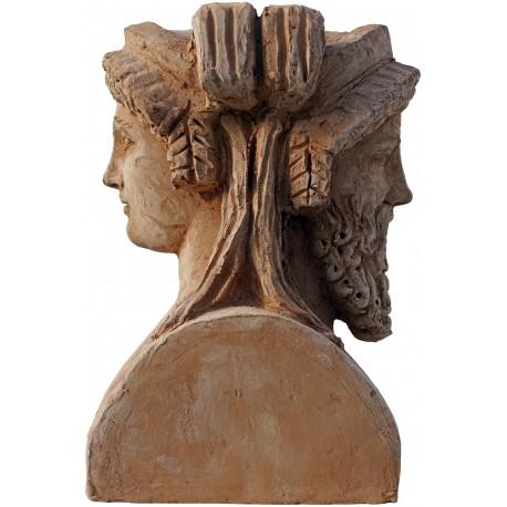 Testa bifronte di Bacco e Arianna - libera copia dell'originale dei Musei Vaticani