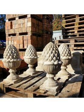 Concrete pine-cone H.65cms