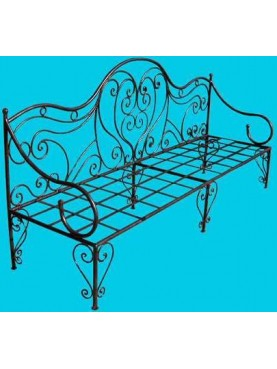 Day bed in iron from Provence