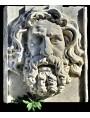Enorme Mascherone in marmo bianco di Carrara