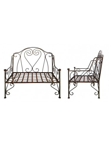 Settee iron bench with 2 seats