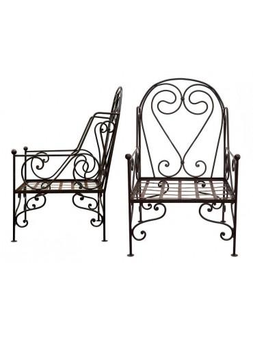 Garden armchair in iron