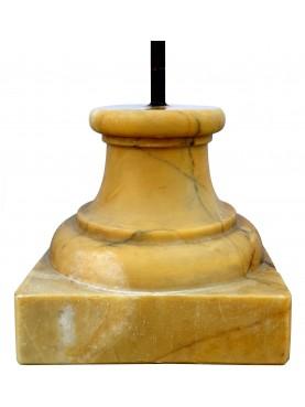 Basetta museale giallo siena tornito H.11,5cm/12X12cm per piccole sculture