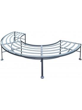 Mezza Panchina semicircolare in ferro da albero