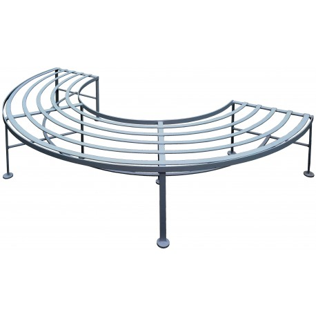 Half forged iron bench - one Semicircle