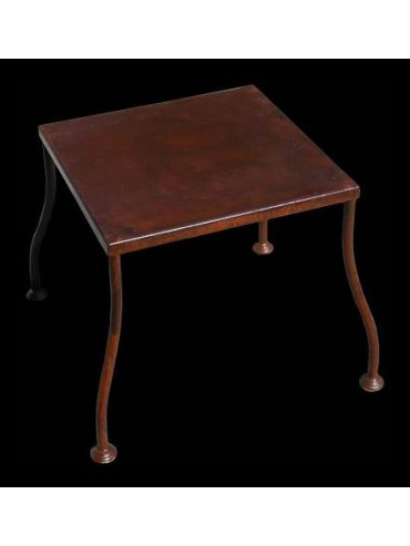 Forged iron low table