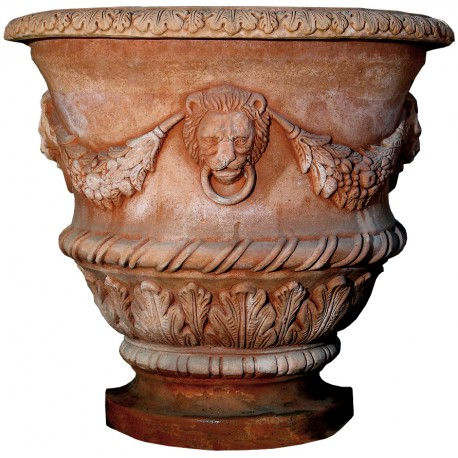 Impruneta terracotta wall-mounted vase