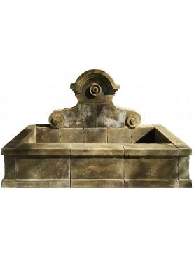Grande Fontana con lavatoio in pietra 13 pezzi - 220cm