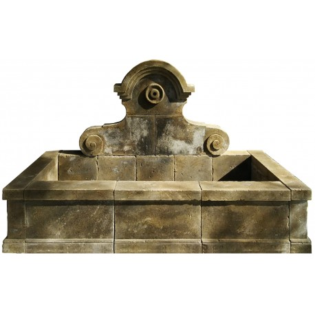 Large stone fountain - 13 pieces 220 cm long